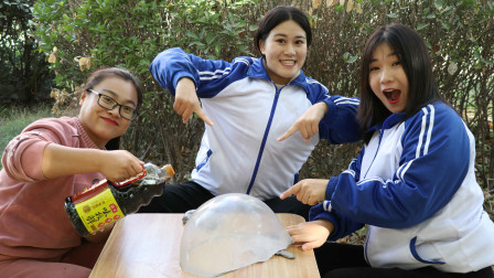 老师让学生用酱油做无硼砂泥,没想做的泥还能搭大帐篷,真漂亮