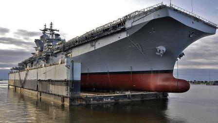 第二艘国产9万吨巨舰下水,长255米宽68米,堪比中国075两栖舰