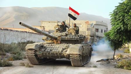 """巴沙尔的禁卫军,第一装甲师参战:尖刀直插,叙叛军""""首都"""""""