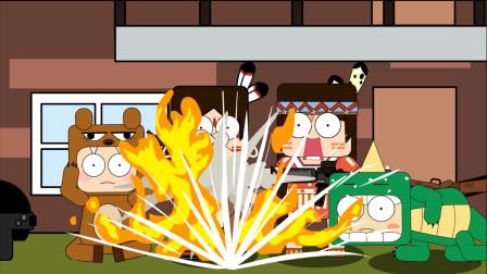 迷你世界吃鸡动画第20集:野萌宝一颗雷炸四个人吃鸡小队能翻盘吗