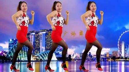 点击观看《京京广场舞 最新流行舞曲《想你的时候问月亮》简单32步 动感欢快 一看就会》