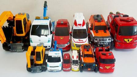消防車卡車工程車機器人玩具改造