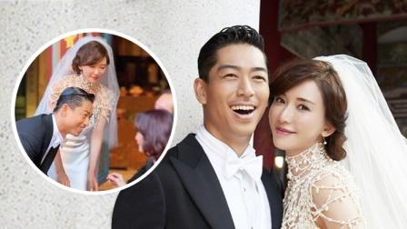 現場:林志玲穿婚紗曲身敬茶 姿態優美場面動人