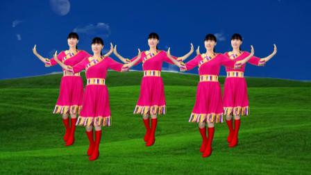 点击观看《民族风格广场舞《牧羊姑娘》情似海深,悠扬动听好听又好看》