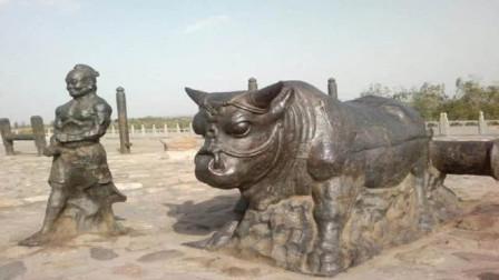 """黄河捞出70吨的""""铁牛"""",却露天放置没人保护,专家:我们不敢"""