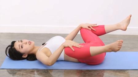 瑜伽女神黄老师系列之七:女孩一学就会,拉伸排毒调整骨盆前倾