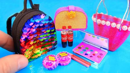 手工制作DIY:为芭比娃娃打造一系列迷你工艺品,小的如此可爱