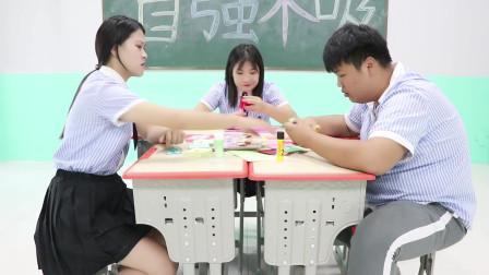 学霸王小九校园剧:教师节学生给老师做贺卡,奇葩男同学写新年贺词送老师,真是人才