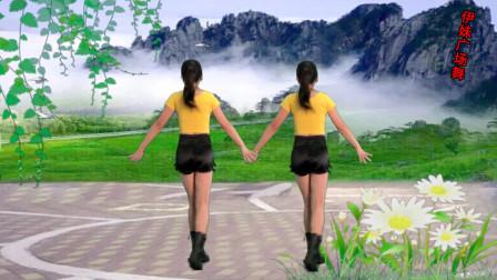 点击观看《鹤塘紫儿广场舞《老月亮》弹跳32步,背面》