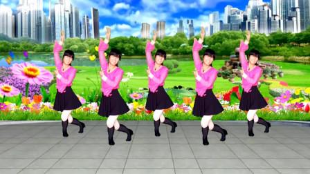 广场舞《昨夜的雨今夜的你》节奏欢快动感,简单又好看