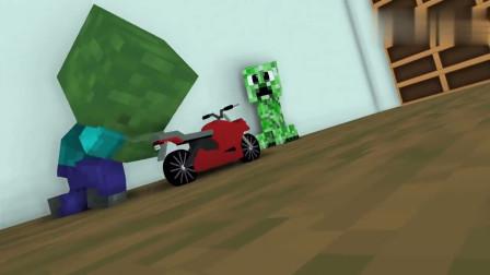 我的世界MC动画:怪物学校《猪人危机》,Him只好亲自动手!