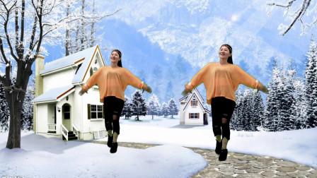 一朵一朵小雪花,摇摇摆摆飘落下,好看《又见雪花飞》背面有分解