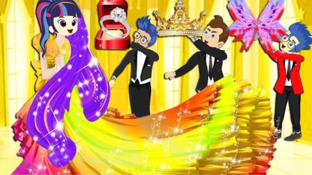 阿坤和紫悦结婚,艾达琪又在捣乱什么?小马国女孩游戏