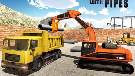挖掘机寻找工地遇到障碍怎么办?汽车总动员