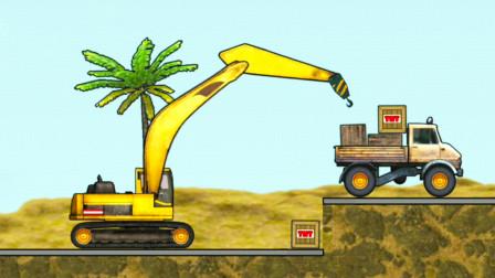 工程车游戏视频 货物里有炸药 大吊车能完成吊运吗