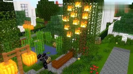 MC怪物学校《骷髅的生活》2,骷髅小白变暗黑机甲摧毁村庄!