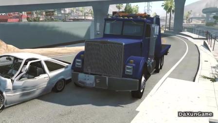 车祸模拟器:轿车非要往我车上撞,躲都躲不掉