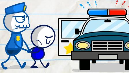 谁也不能打扰开车的司机,阿呆这样做对吗?铅笔画小人游戏