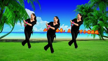 小慧广场舞《天上掉下个林妹妹》恰恰50步附教学