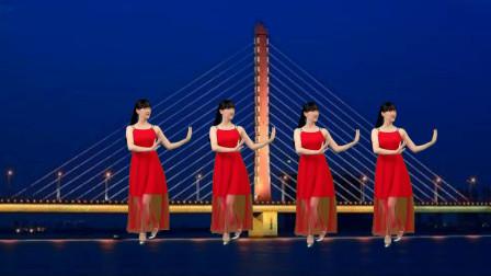 阳光香果广场舞《十五的月亮》好听好看又好学初学入门广场舞