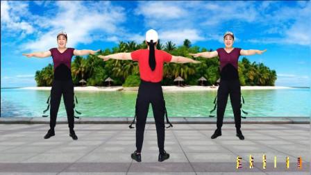 点击观看《轻松学会减肥瘦身操《一起闯天涯》蓝天云广场舞》