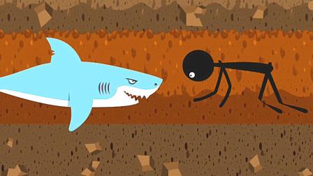 火柴人越狱新版本 挖地道遇见鲨鱼