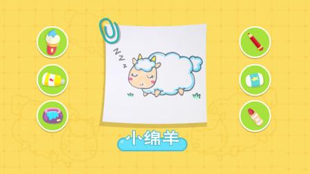 猫小帅故事猫小帅画画之小绵羊简笔画