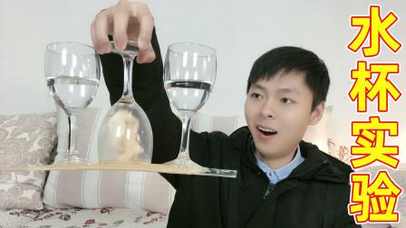 一只水杯能提起多重的物体?为了这个实验,我将我家桌子给拆了!