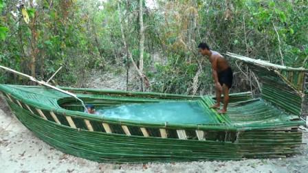男子亲手打造豪华帆船泳池,跳进去的那一刻,太过瘾了!