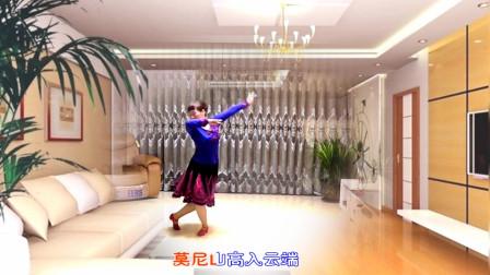 大妈实力演绎《莫尼山》,深情的舞姿,让人震撼!