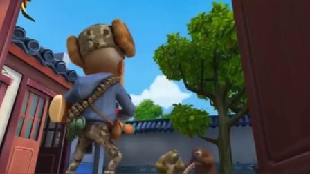 熊出沒之熊兵奪寶熊大熊二打造了一把天下神斧