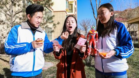 美女橙汁卖不出去,自制奥特曼口味和辣条口味,生意越做越好