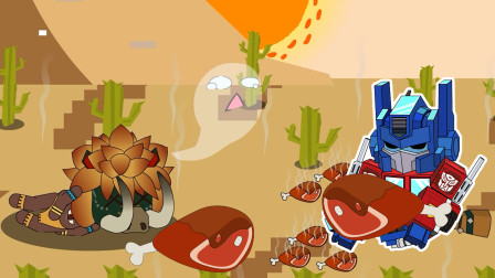 迷你世界格斗动画第145集:野猪、变形金刚吃鸡腿怎么中毒了