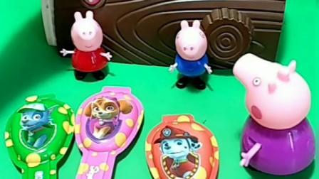 小猪佩奇和乔治分奶酪棒,佩奇分到两个奶酪棒,乔治的奶酪棒不见了!