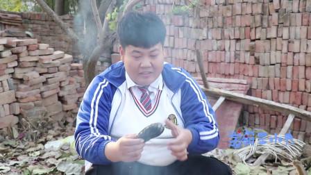 学霸王小九校园剧:下乡记12:老师和学生烤红薯,马三胖竟吃了一个没烤熟的!真逗