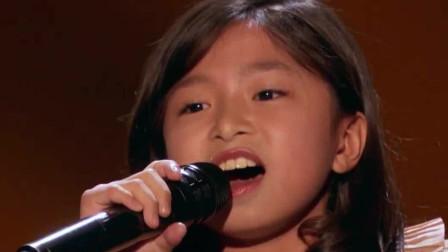 9岁中国女孩国外砸场子!惊人嗓音听嗨全场老外,太长脸了!