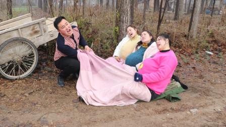 喜剧生孩子第一集:村妹和小伙伴组团生孩子,结果把孩子生路上