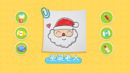 猫小帅故事猫小帅画画之圣诞老人简笔画