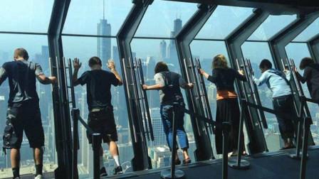 """美国最""""刺激""""观景台,比玻璃栈道恐怖数倍,坚持1分钟就是勇士"""