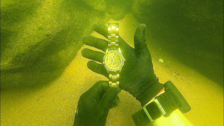 男子水下探宝,竟发现价值15000劳力士手表,网友:一夜暴富不是梦!