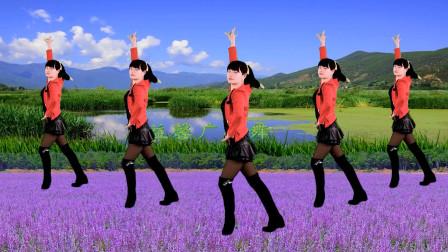 点击观看《益馨广场舞《红梅赞》附分解教学》