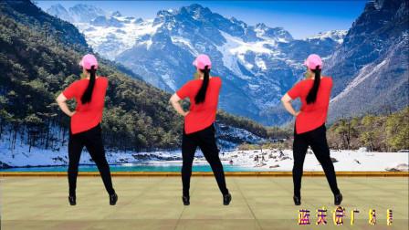 点击观看《蓝天云广场舞对不起我现在才爱上你  腰腹健身操背面演示》