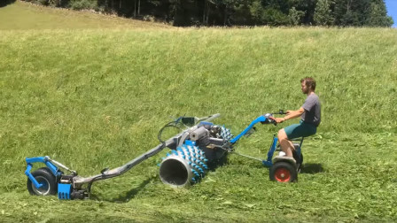 """男子发明豪华""""电动""""割草机,割草像是在兜风,1小时20亩!"""