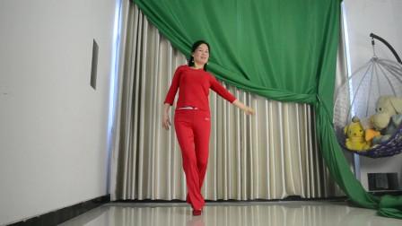 广场舞视频大全 优雅莹莹学跳健身舞中国红