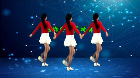 点击观看《鹤塘紫儿广场舞《爱到最后就是痛》32步背面》