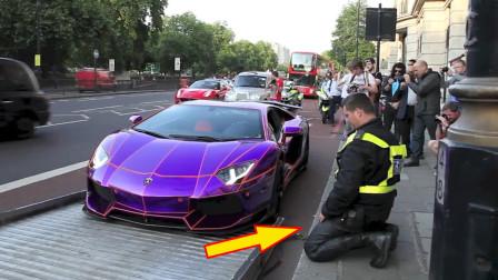 """土豪800万买兰博基尼,严重违章被查,交警看了车""""不敢""""处罚了"""