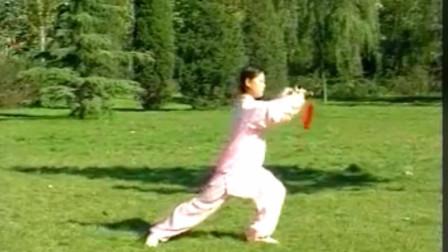 优美太极音乐《北国之春》32式太极剑正面演练