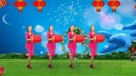 焦陂百和春节广场舞视频《过新年》教程 形体拉伸版本的拜新年灯笼舞