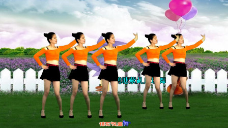 点击观看《鹤塘紫儿广场舞情花朵朵开 32步》