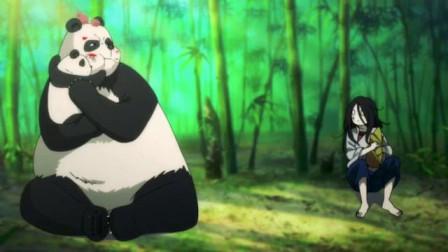 一人之下:宝儿姐和熊猫抢竹笋,满脸的委屈,好可爱!